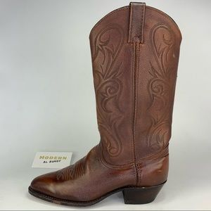 Dan Post Western Boots Brown Leather Mens Sz 7.5
